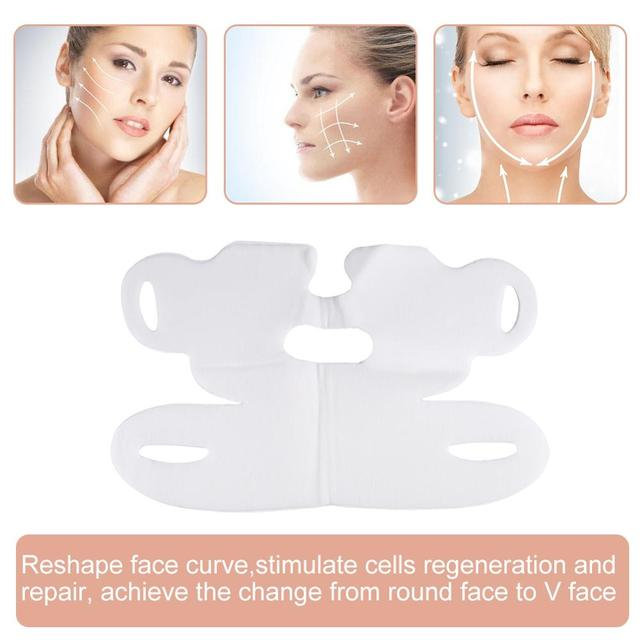 Miracle Lifting Facial Mask V Shape Face Slim Chin Check Neck Lift Eliminate Edema Firming Thin Whitening Pulling Mask Skin Care 3