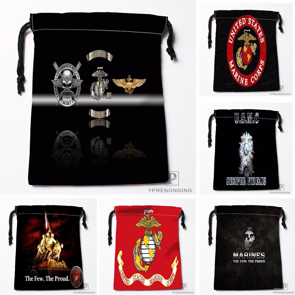 Custom Usmc Battle Hardened Drawstring Bags Printing Travel Storage Mini Pouch Swim Hiking Toy Bag Size 18x22cm#180412-11-37