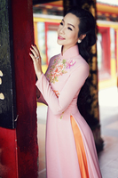 aodai vietnam clothing cheongsam aodai vietnam dress vietnamese traditionally dress cheongsam modern women aodai ao dai pink