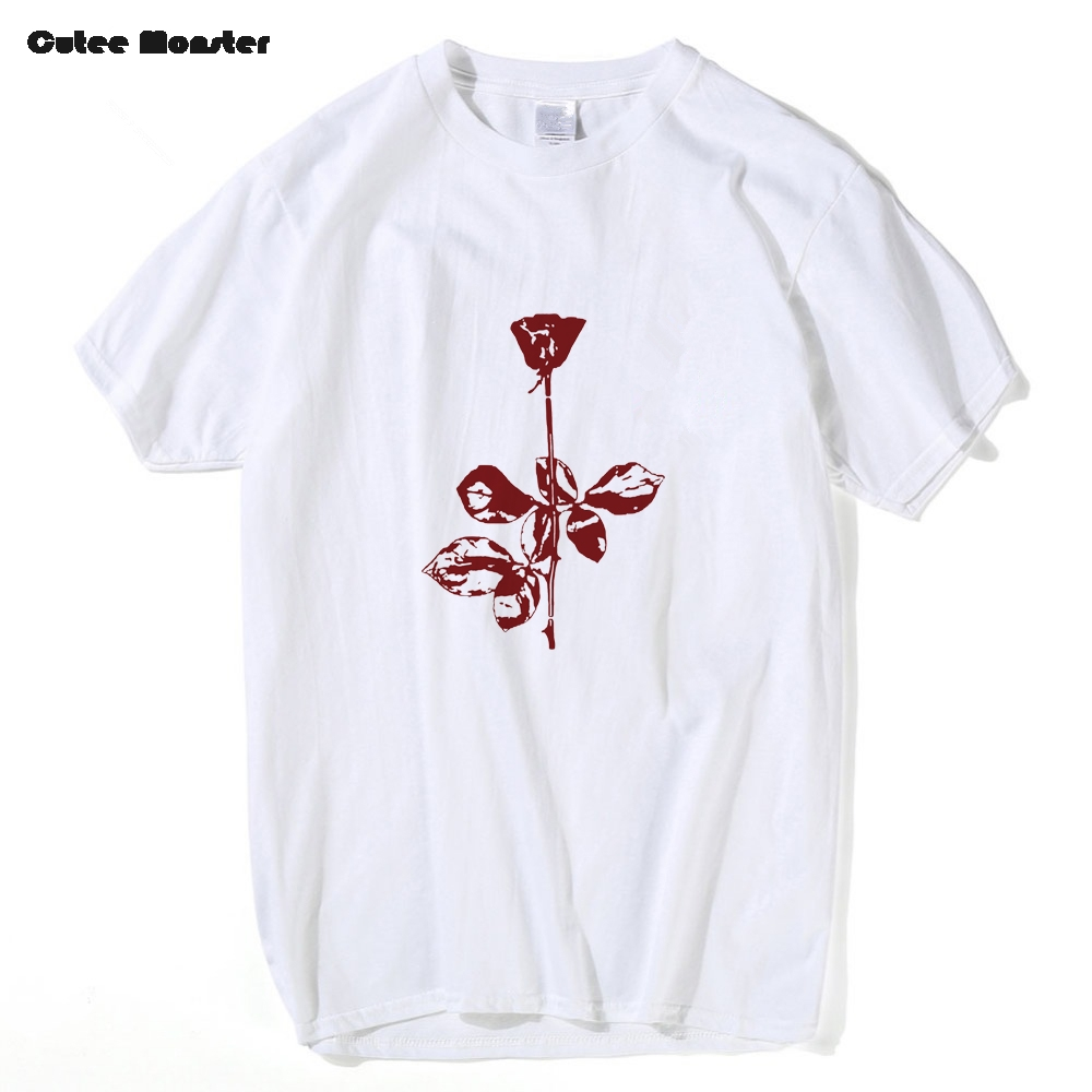 53f22e9564 Depeche Mode Violator T Shirt Men Rose Flower Tees Deathrow Rap Rack City  Hip Hop Casual Floral Top Clothing size XS-3XL