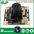 2592*1944 2.8mm lens wide angle windows free software mini UVC video CMOS OV5640 usb camera module 5mp