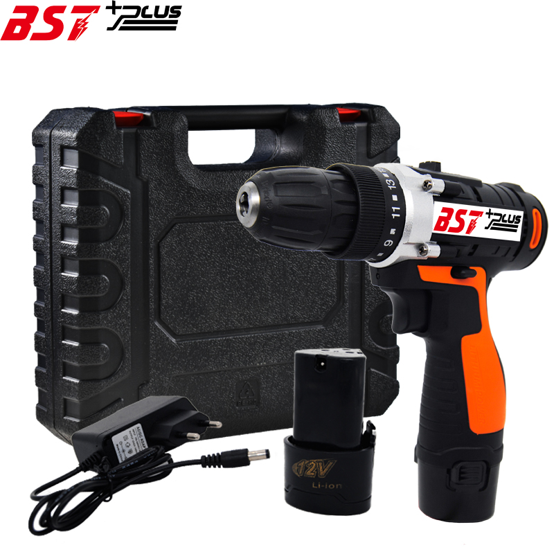 BST+PLUS(seven style) 12V LITHIUM BATTERY 2 SPEED CORDLESS DRILL MINI DRILL HAND TOOLS ELECTRIC DRILL POWER TOOLS SCREWDRIVER professional 24v double speed lithium battery cordless drill power tools mini drill electric drill with 2 year warrantly
