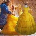 Взрослых Красавица и Чудовище Принцесса Белль Косплей Костюм Бальное платье Fancy Dress