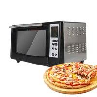 Электрическая плита Нержавеющаясталь электрическая печь для пиццы торт пицца 10L коммерческих/Бытовая Кухня машина выпечки 220 V ЖК дисплей