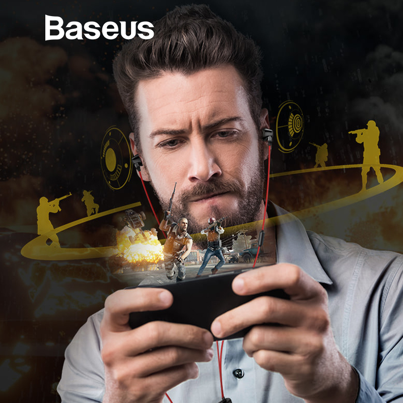 Baseus H08 3D Surround Gaming Fone de Ouvido Para PUBG com Mic, projetado para Capturar Todos Os Detalhes de Som Chave e Posição em um Espaço 3D