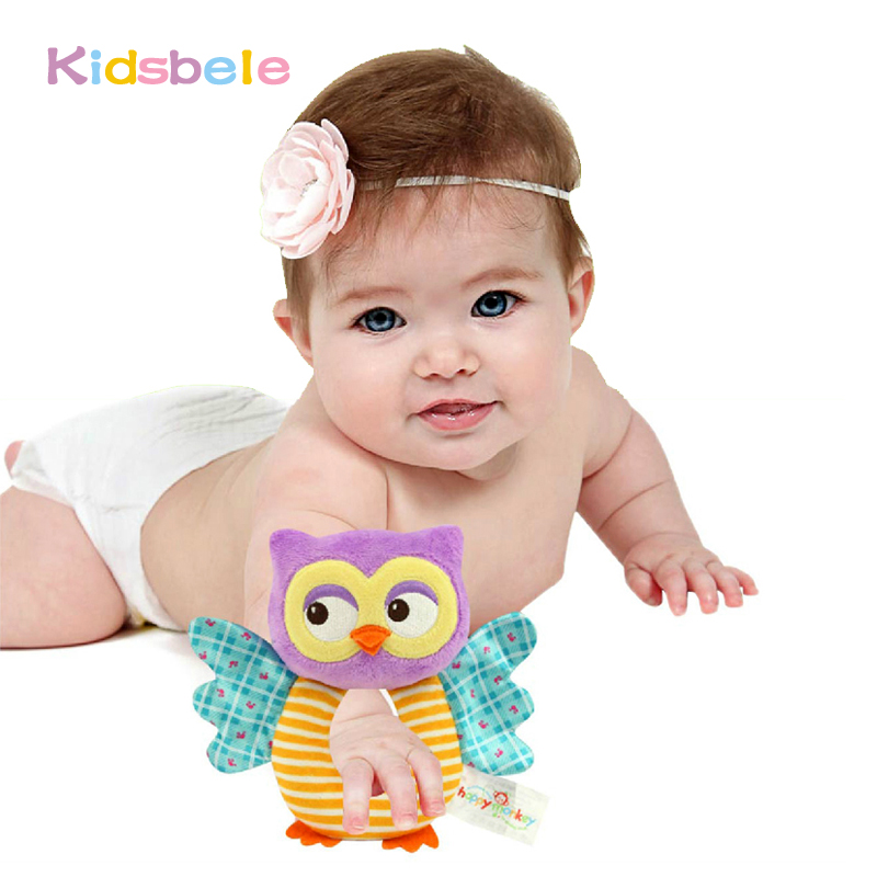 Kid Toys Soft Baby Rattle Tinkle Hand Bell Plush Stroller Cute Animal Butterfly Baby Toys 0-12 Months