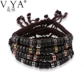 Wood Bead Bracelets for Men Jewelry 18cm to 28cm Adjustable Size Beads anil arjandas style Charm Bracelet PB57