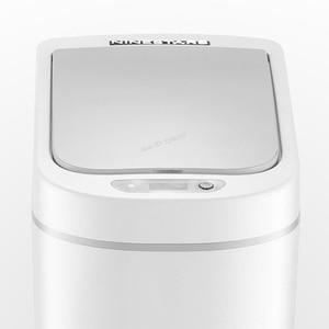 Image 2 - Youpin NINESTARS الذكية حاوية القمامة محس حركة السيارات ختم LED التعريفي غطاء القمامة 7L Ashcan صناديق Ipx3 مقاوم للماء