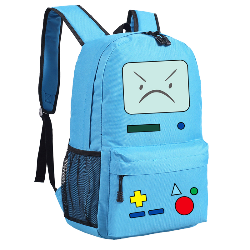 Anime Adventure Time BMO Emoji Printing School Bags for Teenagers Backpacks for Teenage Girls Mochila Feminina Women Backpack adventure time finn and jake school backpack for children teenagers men women bag mochila laptop knapsack bags