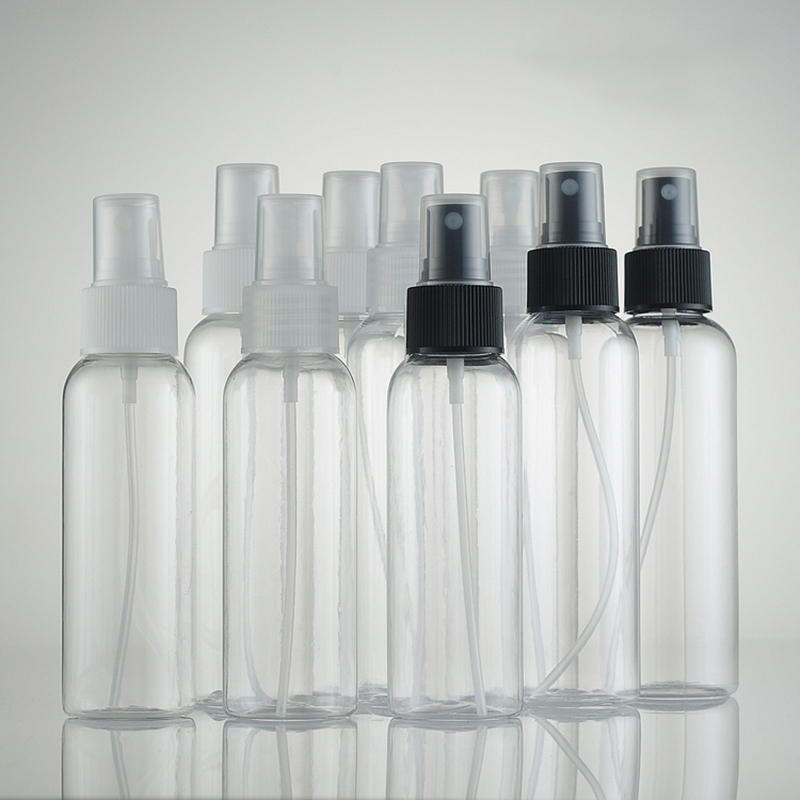 Empty Transparent Portable 100ml 120ml 150ml Spray Bottle Watering Can PET Plastic Vials Cosmetic Packing Bottles