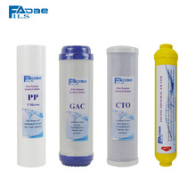 Reverse Osmosis System Spare Parts 10 PP+GAC+CTO+Inline Post Mineral Filter (4pcs/lot)