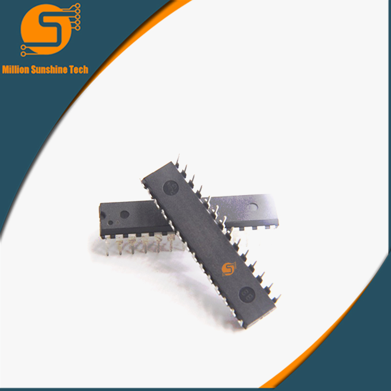цена на 50PCS ATMEGA328P-PU DIP ATMEGA328-PU DIP28 ATMEGA328P new and original IC free shipping