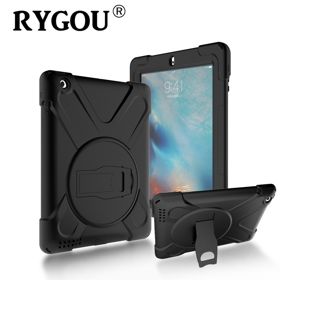 RYGOU Full Body Protective Case For Apple iPad 4 3 2 Impact Resistant Hybrid Heavy Duty