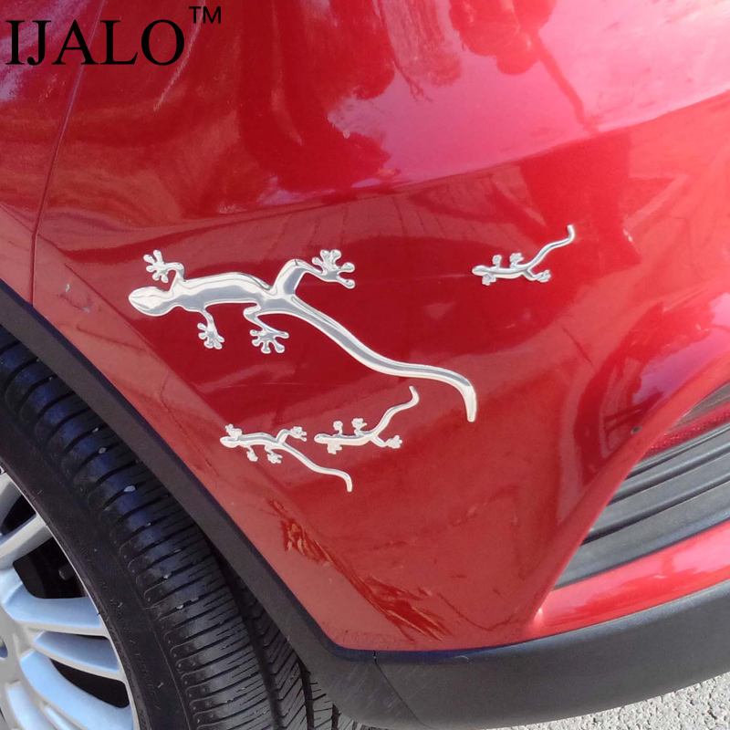 1 Set(4pcs),Cool Cute Big Gecko 3D car sticker Car styling decal  Chromed emblem badge Car styling accessories 2set more 20% off