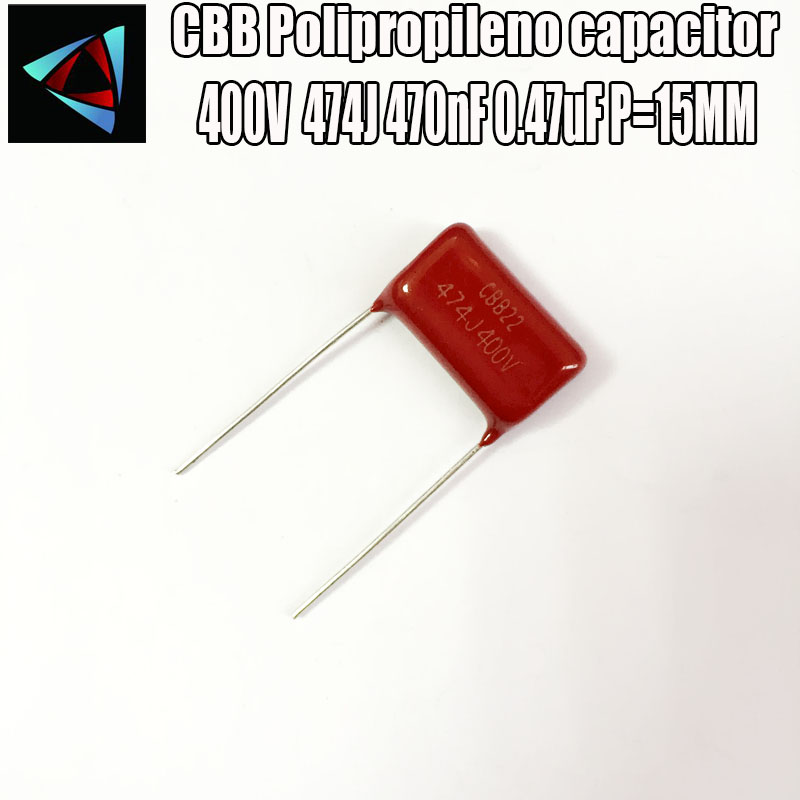 14PCS 400V 474J 0.47UF Pitch 15mm 470NF 400V 474 CBB Polypropylene Film Capacitor