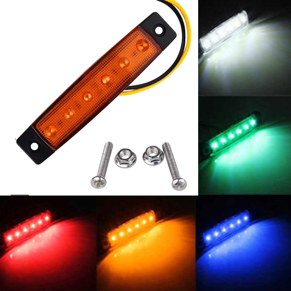 LED Car Bus Truck Light DC 12V 24V Power Supply LED Stop Rear Tail Brake Reverse Light Trailer Side Marker Lndicators Light 2016 hot 1pc 12v 6 smd led car bus truck trailer lorry side marker indicator light side lamp new dropping shipping high quality