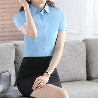 Two Piece Short Sleeve Blouse And Skirt Ladies Formal Skirt Suit Cassual Office Uniform Designs Women Business Suits For Work