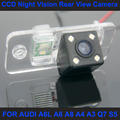 CCD night vision with 4 LED lamps Car Rear View Reverse Camera for AUDI A6L A6 A8 A4 A3 Q7 S5 Car