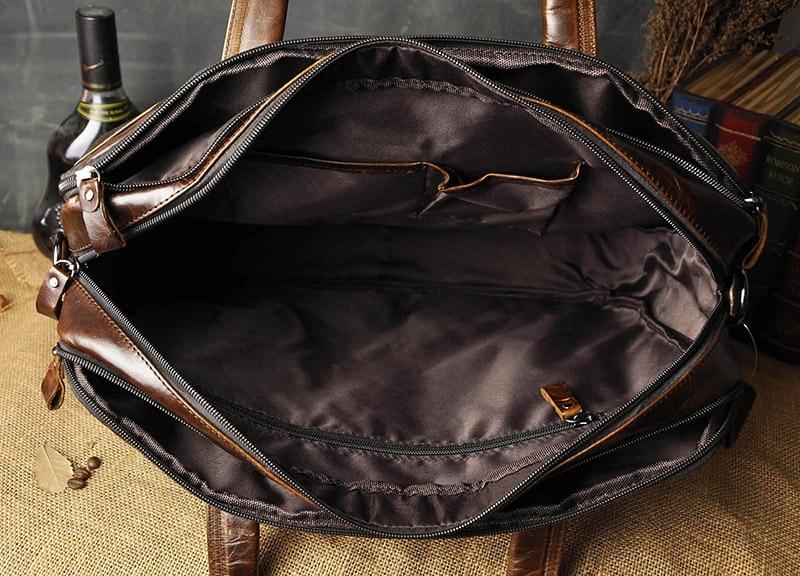 HTB1X9Cla.zrK1RjSspmq6AOdFXa4 Men Oil Waxy Leather Antique Design Business Briefcase Laptop Document Case Fashion Attache Messenger Bag Tote Portfolio 7146