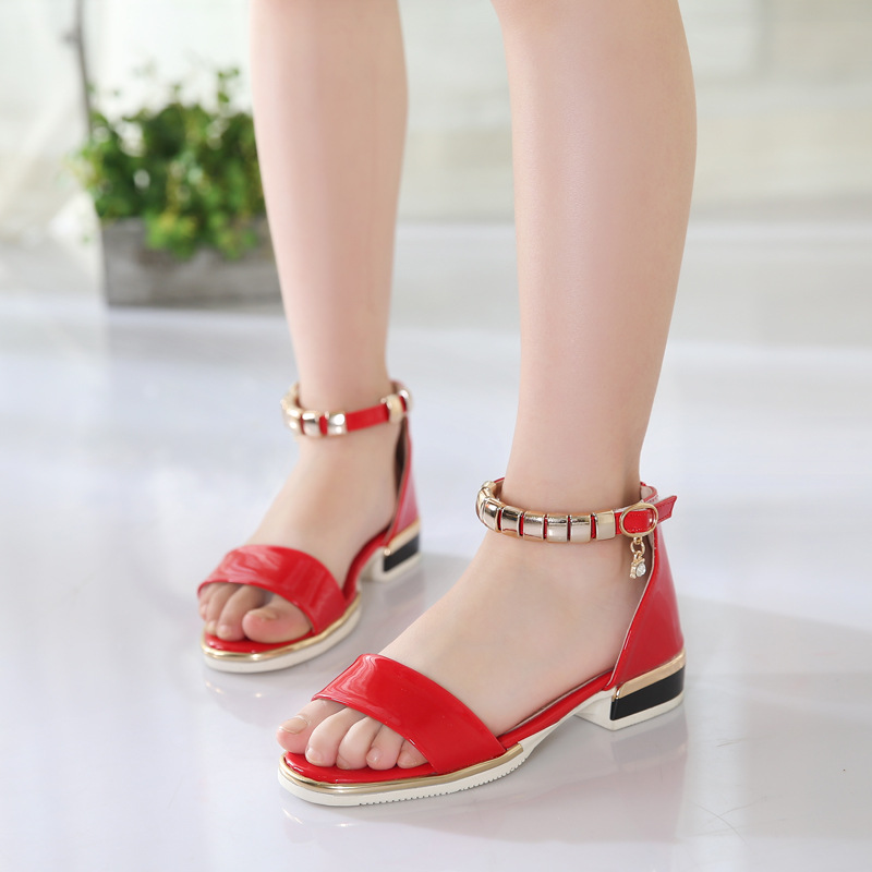 Girls sandals children princess shoes 2017 summer new baby shoes soft base in the children of