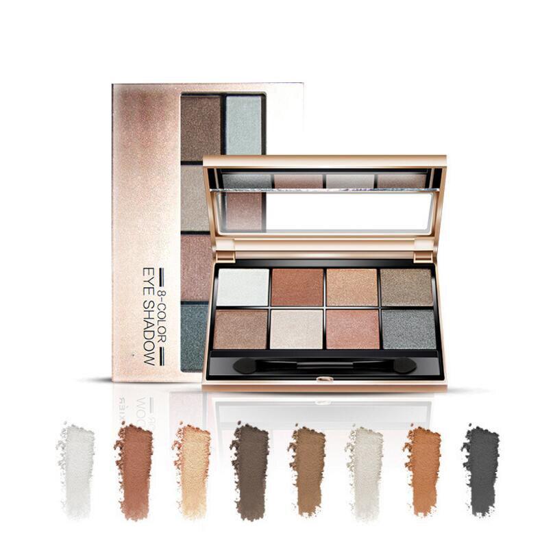 TYA 12 nude color Smoky eyeshadow Palette Balm Glitter