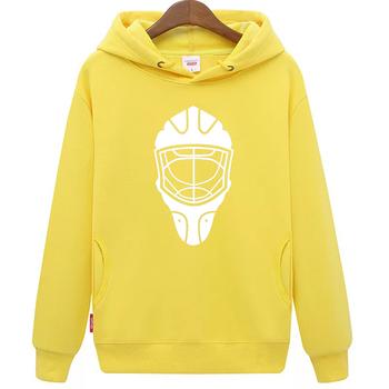 Fajne hokej na lodzie darmowa wysyłka tanie młodzieży żółty hokej na lodzie bluza z kapturem z hokeja na lodzie wzór maski tanie i dobre opinie Chłopcy Flexible Pasuje mniejszy niż zwykle proszę sprawdzić ten sklep jest dobór informacji cool hockey