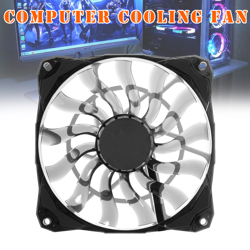 Cooling <font><b>Fan</b></font> Slim 15mm Thickness 53.6CFM <font><b>120mm</b></font> <font><b>PWM</b></font> Silent <font><b>Fan</b></font> for Home Office GDeals image