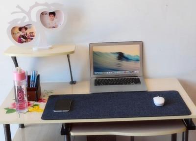 2016 New Fashion woolen pu leather Mouse Pad Pen Holder Modern Table Felt Office Desk Mat Durable Computer Desk Mat 67x33cm