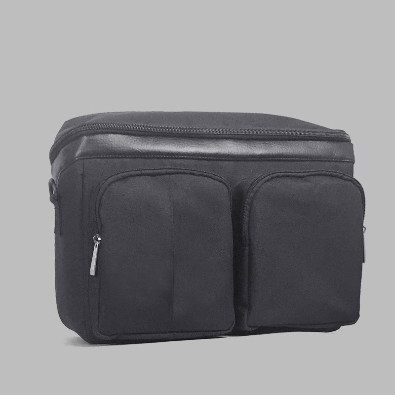 Diaper Bag For Baby Stuff Nappy Bag Stroller Organizer Baby Bag Mom Travel Hanging Carriage Pram Buggy Cart Two Bottle Bag - Цвет: Black