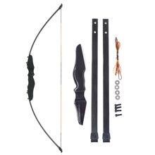 40lbs захват, изогнутый лук прямой стекловолокно конечностей охотничья стрельба деревянный ручной Бар Лук стояк для обучения начинающих