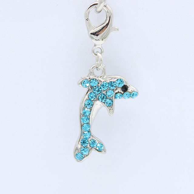 Beautiful attractive young dolphins lobster clasp pendant DIY fashion jewelry accessories