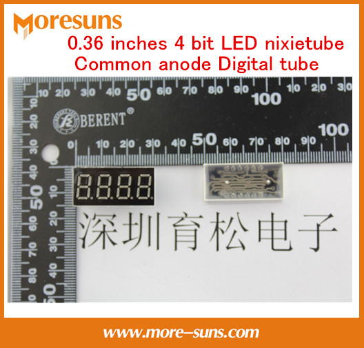 Fast Free ship 50pcs/lot Digital tube 0.36 inches 4 bit LED nixietube common anode Digital tube  3461 LED Digital tube
