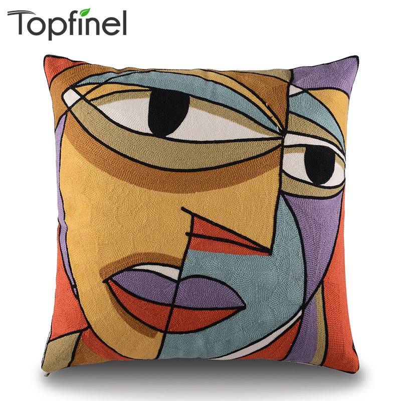 Aliexpress Com Buy 2016 Top Finel Modern Striped Faux: Aliexpress.com : Buy Top Finel Picasso Embroidered