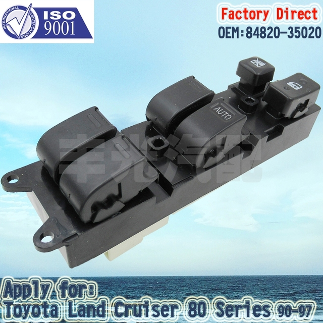 Aliexpress com : Buy Factory Direct Auto Master Power Window Switch Apply  for Toyota Land Cruiser 80 Series 90 98 84820 35020 from Reliable switch