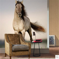 Beibehang párr quarto personalizar papel fotográfico pared animales wallpaper mural speeding wanmabenteng horse 3d mural wallpaper