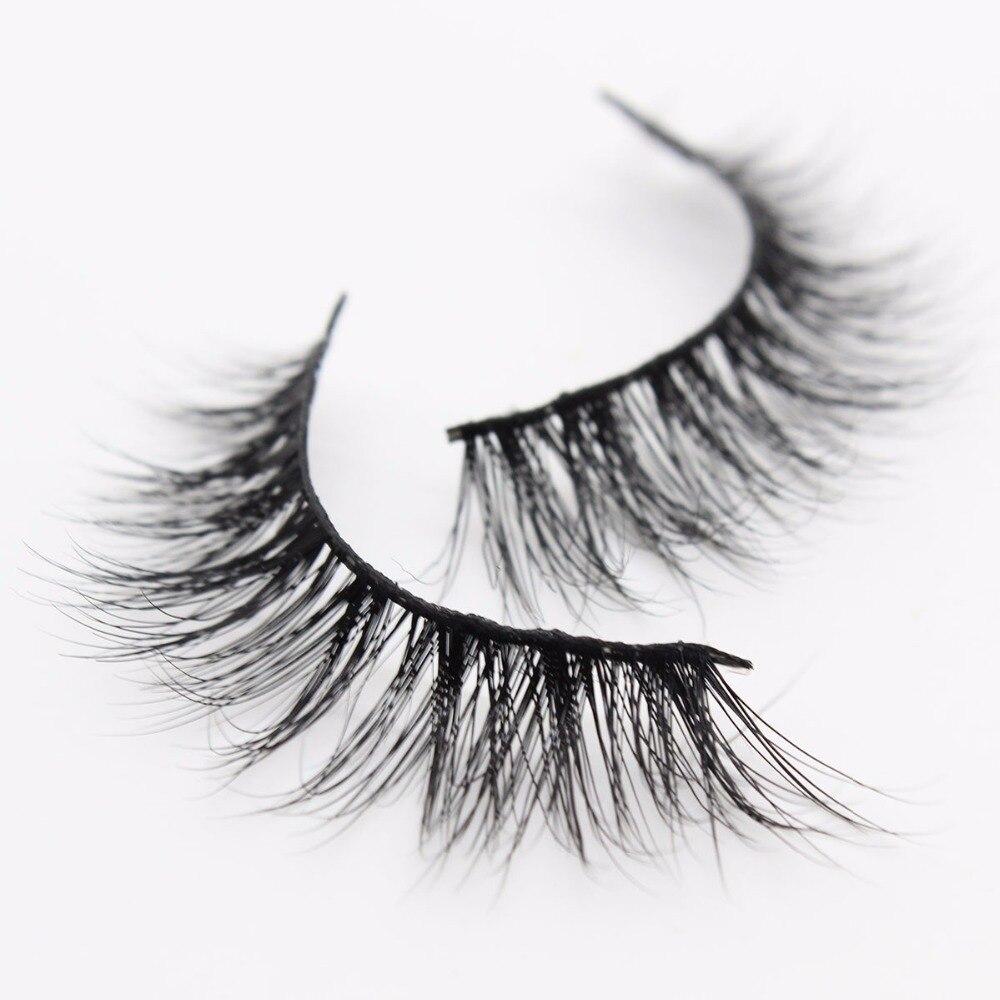 413a86a514e Ptcharming Handmade 100% Real Siberian Mink False Eyelash Individual  Eyelashes Extension 3D Faux Lashes PTAME A04-in False Eyelashes from Beauty  & Health on ...