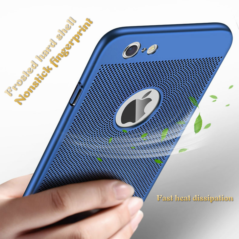 Air Permeable Case For IPhone 5 6 S 7 8 Plus X Matte Shell Heat Dissipation Breathable Abrasive Crust 3