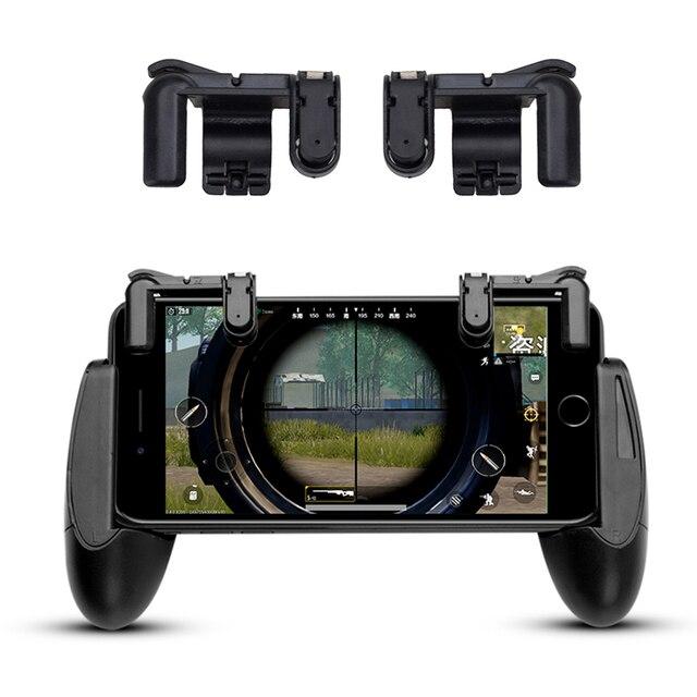1 par de juegos disparador Botón de fuego Aim Key & Shooter Controller para juegos móviles teléfono inteligente juego móvil L1R1 PUBG v3.0 izquierda + derecha