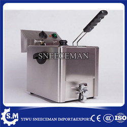 8L Single-cylinder electric fryer french fries chicken electric frying pan stainless steel deep fryer machine