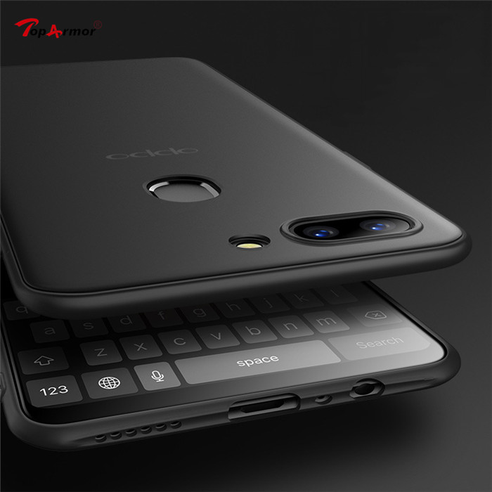 Matte Soft TPU Silicone Frosted Cover For Oppo Realme 1 2 F7 Youth F3 F9 Pro A7x R9 R9S R11 R11S Plus R15 R17 Pro Mobile Cases image