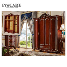 Modern style bedroom wall simple designs furniture easy assemble wooden dressing closet wardrobe 6006