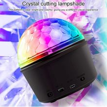 Mini led Crystal Magic Ball Bluetooth Music Lantern 9 colors stage light Lampshade Mini USB Disco Light Ball Laser DJ Light(China)