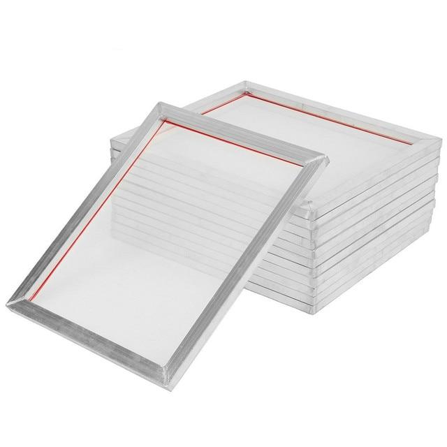 2 قطعة A5 شاشة الطباعة الألومنيوم الإطار امتدت 32*22 سنتيمتر مع 32T 120T الحرير طباعة البوليستر شبكة ل لوحات الدوائر المطبوعة