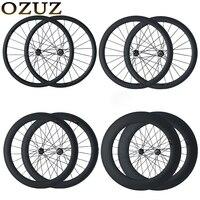 OZUZ на дисковый тормоз углерода колеса Велокросс колеса велосипеда довод трубчатый 24 мм 38 мм 50 мм 88 мм 700C 3 К матовая углеродного волокна коле