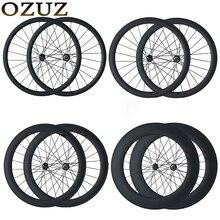 OZUZ на дисковый тормоз Велокросс велосипед Колеса 23 мм широкий трубчатый довод 24 мм 38 мм 50 мм 88 мм китайский 700C 3 К матовая углеродного волокна колеса