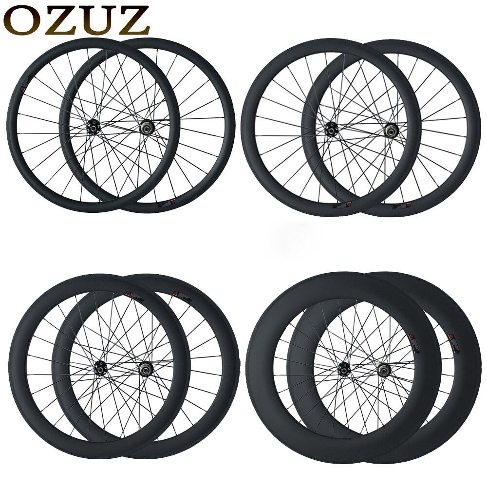 OZUZ freno a disco della bici da ciclocross ruote 23mm di larghezza copertoncino tubolare 24mm 38mm 50mm 88mm cinese 700C 3 k matte ruote in fibra di carbonio