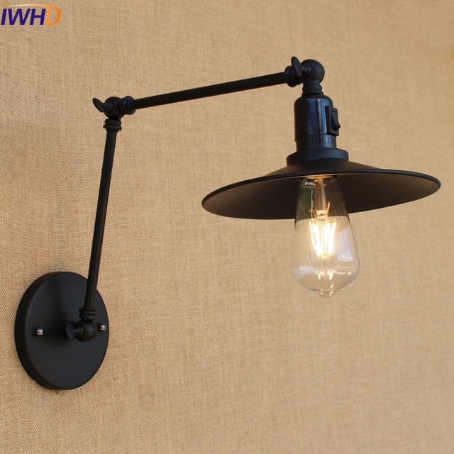 Vintage industrial style loft Iron Black Wall Light Switch aisle ...