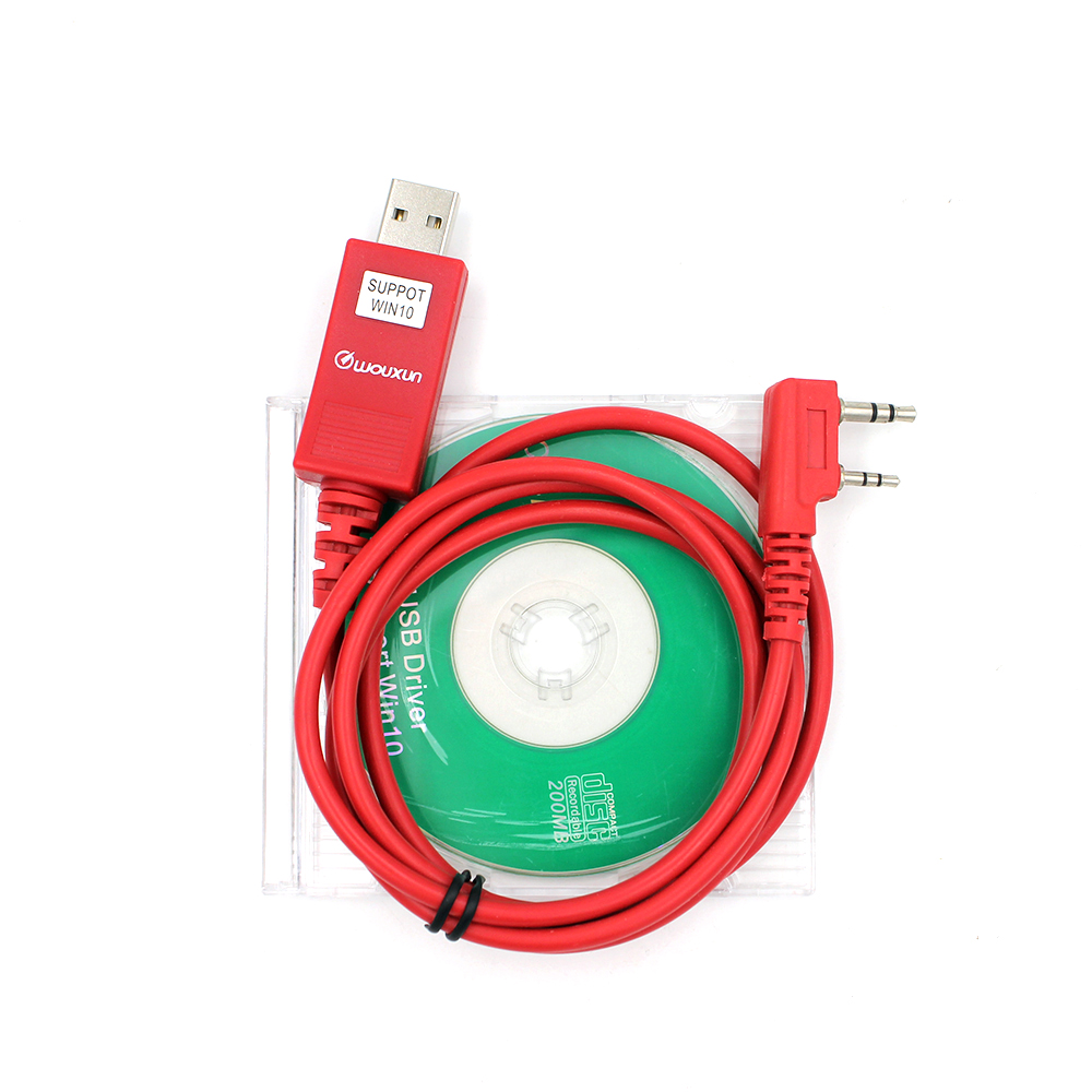 Original WOUXUN USB Programming Cable Walkie Talkie KG-UVD1P KG-UV6D KG-UV8D KG-UV899 KG-UV9D PLUS Programming Software Cable