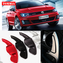 tommia 2pcs Steering Wheel Aluminum Shift Paddle Shifter Extension For VW lamando 2013-2015 Car-styling dsg paddle shifter extension fit for ford mondeo fusion 2013 2015