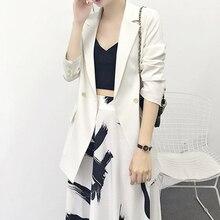 Solid Women Suits Blazers  jacket female Autumn 2018 New thin chic Business Work Office Suit blazer feminino Black White